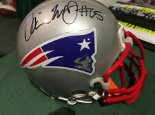 Damien Woody NE Patriots Auto MINI HELMET O-Line 2x Super Bowl Champ COA