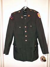 US Army JROTC Army Green Men's Dress Uniform Coat Size 37R Frankford DSCP USED