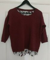 Fat Face Ladies Winter Jumper Butterfly Lining UK Size 14