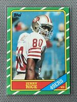 1986 Topps #161 Jerry Rice SAN FRANCISCO 49ers Rookie Card ~ NM