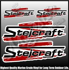 STEJCRAFT - DECALS - Set of 4 - BOAT DECALS