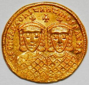 Byzantine Empire Leo IV AV solidus (778-780) gXF R! (Sear:1583) [4.49 grams]