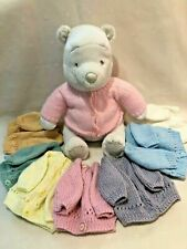 Hand Knitted Premature / Small New Born Baby Girl Boy Cardigans Lots Of Colours