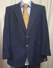 Usa Jack Nicklaus Golden Bear Sport Coat Golf Linen Blue Masters Mens Jacket Euc
