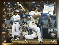 COREY SEAGER Signed DODGERS 8x10 Autographed Photo BAS Beckett Authentic COA