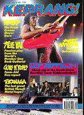 Kerrang! #290 May 19 1990 Steve Vai Guns N' Roses Toranaga Thrash Metal