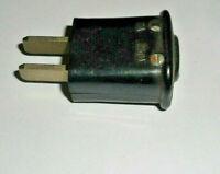 Industriedesign Alt  Stecker 2 polig Bakelit