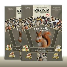 Delicia 2 x 600g Classico Year-Round Garden Squirrel Food Mix