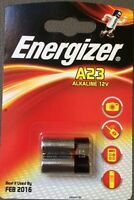 2 x Energizer A23 12V Alkaline Battery 23A LRV08 MN21 E23A K23A