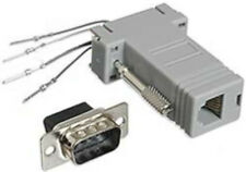 DB9 pin Male~RJ11 4wire 6P4C Jack Modular Port Adapter Aux/Data/Phone/Telephone