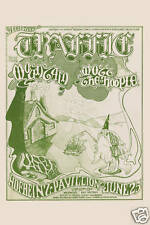 Steve Winwood & Traffic at Houston Concert Poster 1971