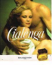 PUBLICITE ADVERTISING 034   1978    BALENCIAGA  parfum  CIALENGA