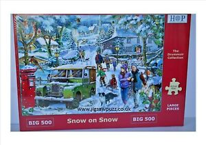 Snow on Snow New Release Big 500 Drummuir House of Puzzles Jigsaw Puzzle