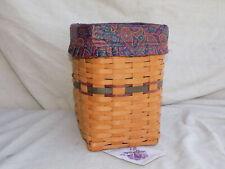 Vintage Father's Day Mini Waste Basket w/ Cloth Liner 1995 Longaberger