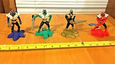 Power Rangers 2012 McDonald's Super Samurai Figure Lot Of 4 Green,Blue,Gold,Red