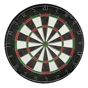 (TOP QUALITY) 45cm Bristle Dartboard with 6 Darts Game Set Family Outdoor Fun