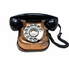 Vintage Copper Ericsson Rotary Dial Phone Sweden Bakelite Telephone 1940's WWII