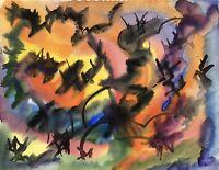 Abstrakte Komposition #1 RUDOLF BÖNNIGHAUSEN - Modern Art Midcentury Vintage