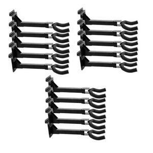 15 Pairs Adjustable Guitar Bass Wall Hanger Hook Holder Mount Screw or Slat Wall
