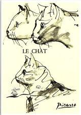 Carte postale d'art-PABLO PICASSO: le chat (3)/THE CAT/LE CHAT