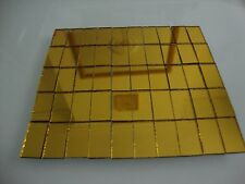 Mosaic Gold Mirror Tiles (Approximately-2x1 cm) 1.6 mm thick, 50 pcs