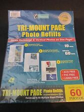 Thompson Tri-Mount Page Photo Refills Holds up to 60 Photos New Sealed