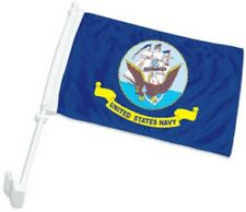 "12x18 US Navy Ship Double Sided Car Window Vehicle 12""x18"" Flag"