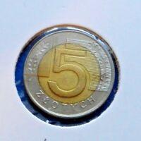 1994 Poland 5 Zlotych - Super Bi-Metallic Coin - See PICS
