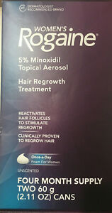 Women's Rogaine 5% Minoxidil Foam for Hair Regrowth, 4-Month Supply EXP:03/2023