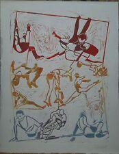 """Gérard GUYOMARD gravure couleurs issue d'un portfolio """"Corps 12"""" P1489"""