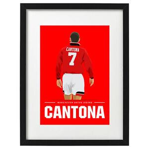 Eric Cantona Manchester United Lengend art print / poster