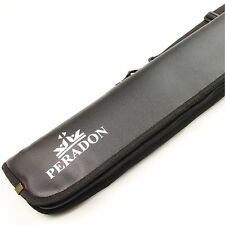 Luxury Peradon Fur Lined Soft Case For 3/4 Joint Snooker Pool Cue
