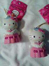 Kurt Adler Hello Kitty resin ornament-set of 2-New-pink bows