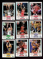 1990 Fleer Basketball Star Lot with Michael Jordan & Robinson rc