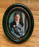 Vintage Authentic Cartier Photo Picture Frame Gold Green Malachite Color
