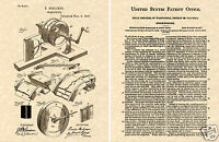Berliner GRAMOPHONE US PATENT Art Print READY TO FRAME!!! Vintage music player