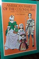 American Family of the Colonial Era Paper Doll, Tom Tierney - Uncut 1983