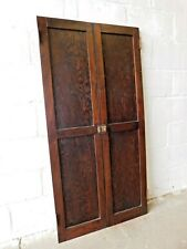 1910's Antique Cabinet Doors Butler Pantry Craftsman Style Two Panel Fir Ornate