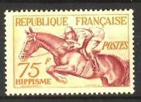 "FRANCE STAMP TIMBRE YVERT N° 965 "" JO HELSINKI 1952 HIPPISME 75F "" NEUF xx TTB"