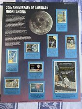EXCLUSIVE 20th Anniversary Moon Landing.  Postal Commemorative Society Stamps