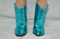 "Fits Our Generation American Girl 18"" Dolls Clothes Shoes Blue Cowboy Boots"