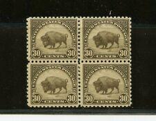 U.S. #569 (Us526) block of 4, American Buffalo, 30c ol brn, Mnh, Fvf, Cv$200.00