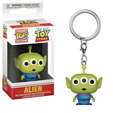 3 x POCKET POP TOY STORY KEYCHAINS: ALIEN + BUZZ LIGHTYEAR + WOODY, New, Boxed