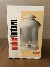 Vintage Weber LARS Candle Lantern White Made in Sweden Box Stake Hook