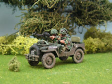 1st Corps 28mm WW2 Helmeted British  Airborne Airlanded  Jeep Single Vickers