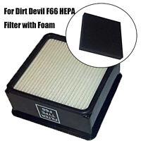 2X HEPA Filter & Foam Filter Set For Dirt Devil F66 UD70100 UD70110 UD70105 New