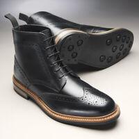 Samuel Windsor Mens Boots Black Prestige Country Leather Lace Up UK Sizes 5 - 14