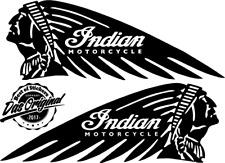 2 x Indian Logo Viele Farben Größe 20 cm x 7 cm ANSEHEN DECUT DECAL JDM