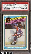 1984-85 O-Pee-Chee OPC Wayne Gretzky PSA 9 MINT Graded #383 Goal Leader NHL Card