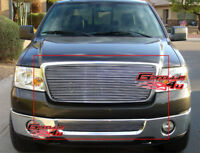 Fits 06-08 Ford F-150 F150 Billet Grille Combo Insert 2PCs
